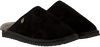 Zwarte WARMBAT Pantoffels CLASSIC UNISEX SUEDE  - small