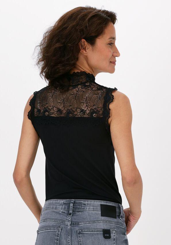 Zwarte MINUS Top VANESSA HIGH NECK - larger