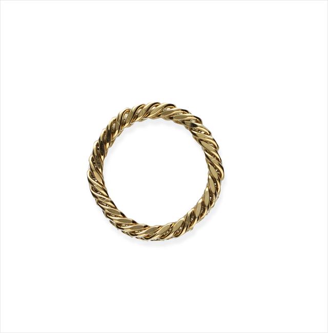 Gouden NOTRE-V Ring RING KLEINE SCHAKEL  - large