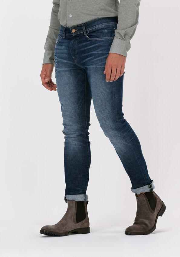 Donkerblauwe SELECTED HOMME Slim fit jeans SLIM-LEON 4074 D.B. SUPERST  - larger