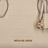 Beige MICHAEL KORS Handtas MD SATCHEL EMBOSSED - small