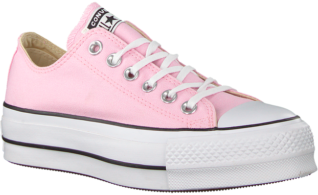 Roze CONVERSE Sneakers CTAS LIFT OX CHERRY BLOSSOM/W - large