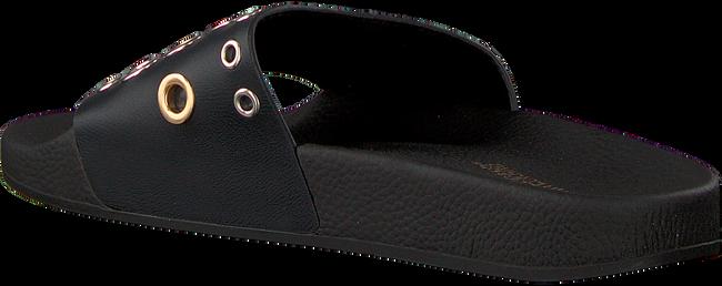 Zwarte THE WHITE BRAND Slippers EYELETS - large