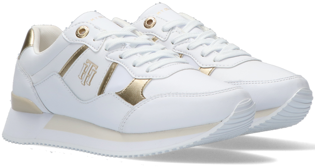 Witte TOMMY HILFIGER Lage sneakers TH INTERLOCK CITY  - large