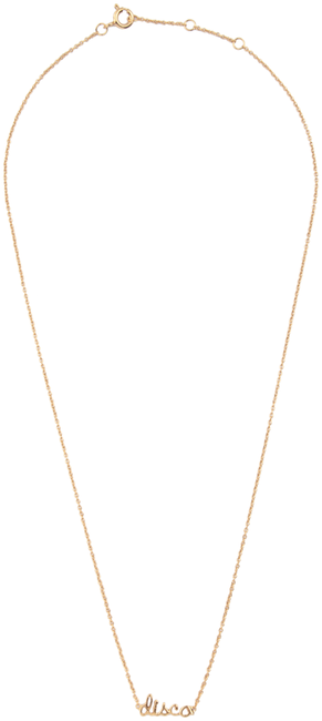 Gouden ALLTHELUCKINTHEWORLD Ketting URBAN NECKLACE DISCO - large