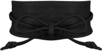 Zwarte LEGEND Riem 10222  - medium