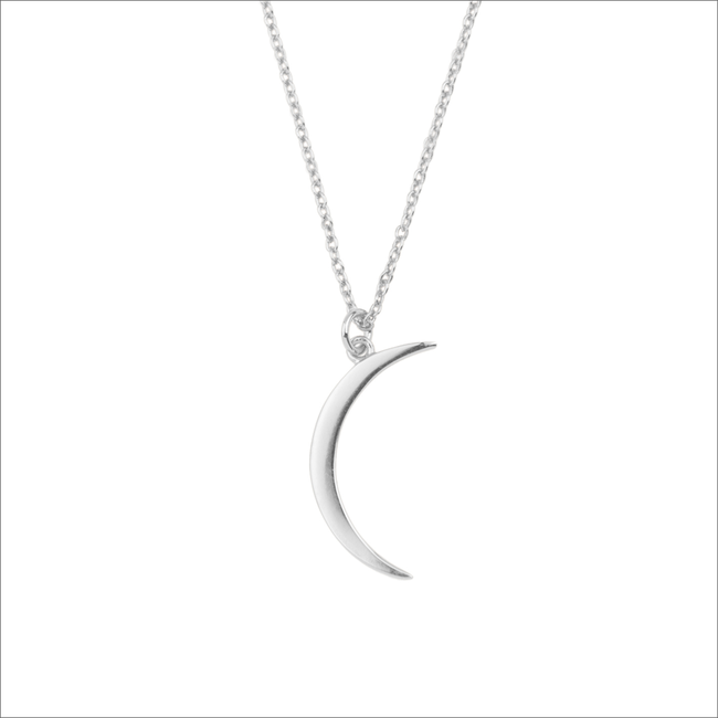 Zilveren ATLITW STUDIO Ketting SOUVENIR NECKLACE LONG MOON  - large