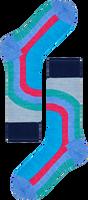 Blauwe HAPPY SOCKS Sokken HYSTERIA LULU MID HIGH SOCK  - medium
