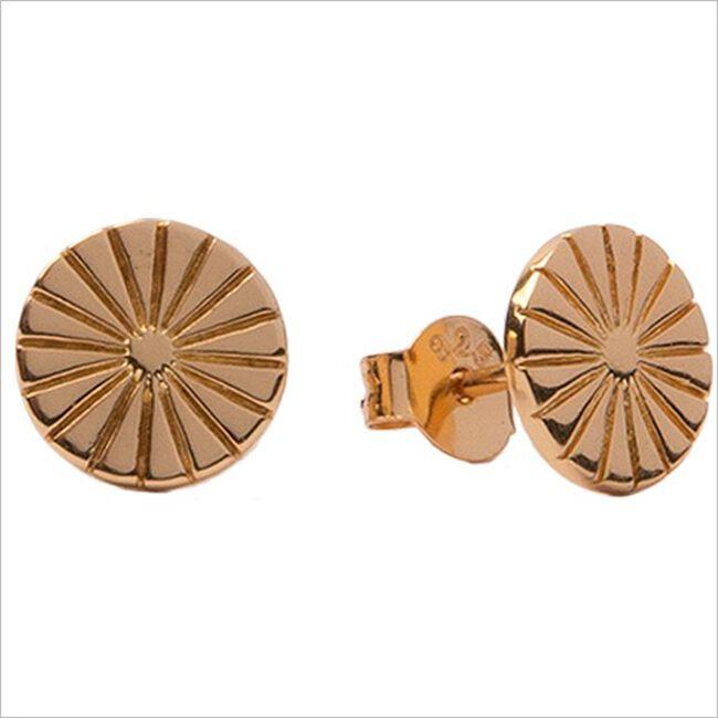 Gouden ATLITW STUDIO Oorbellen PARADE EARRINGS SUNNY COIN  - large