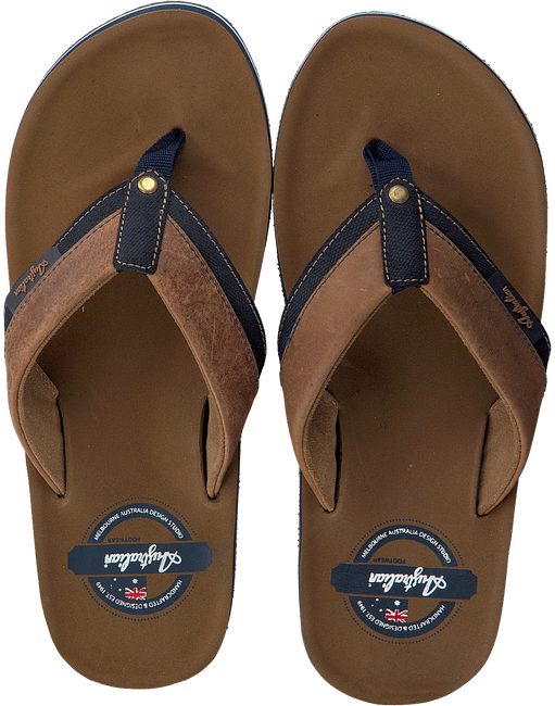 Cognac AUSTRALIAN Slippers ROCKANJE AT SEA - large