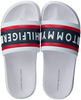 Witte TOMMY HILFIGER Badslippers MAXI LETTERING PRINT POOL SLID  - small