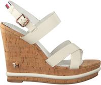 Witte TOMMY HILFIGER Sandalen CORPORATE WEDGE  - medium