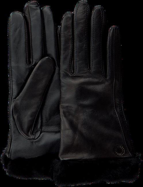 Zwarte UGG Handschoenen CLASSIC LEATHER SMART GLOVE - large