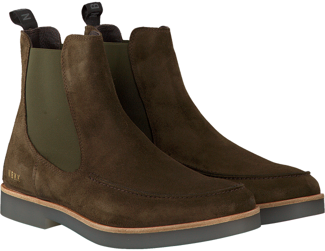 Groene NUBIKK Chelsea boots LOGAN BOND  - large