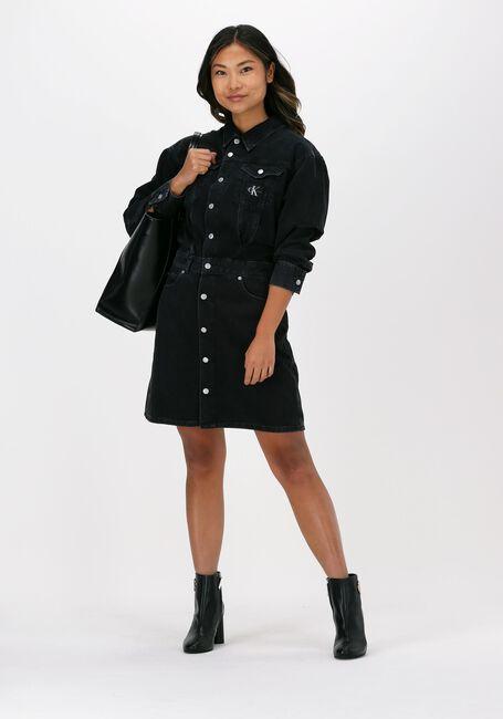 Zwarte CALVIN KLEIN Mini jurk A-LINE DENIM JACKET DRESS - large