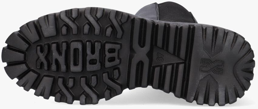 Zwarte BRONX Enkellaarsjes CURV-Y 47365  - larger