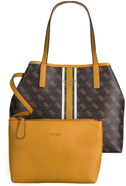 Bruine GUESS Shopper VIKKY TOTE  - large