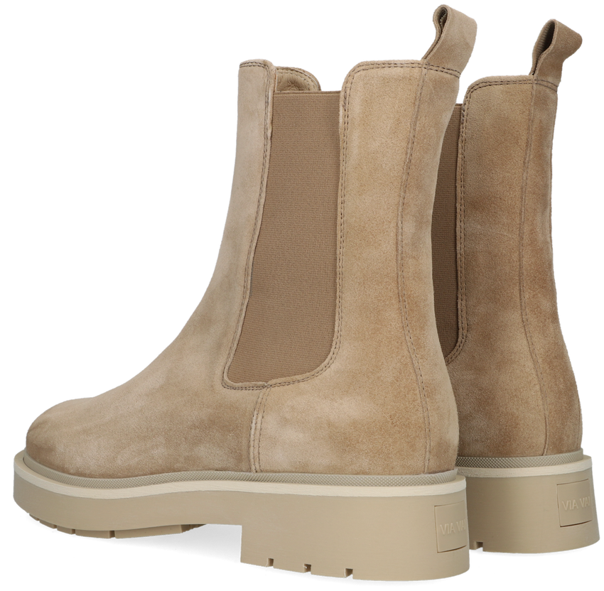 Beige VIA VAI Chelsea boots ALEXIS  - larger