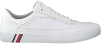 Witte TOMMY HILFIGER Lage sneakers CORPORATE PREMIUM  - medium