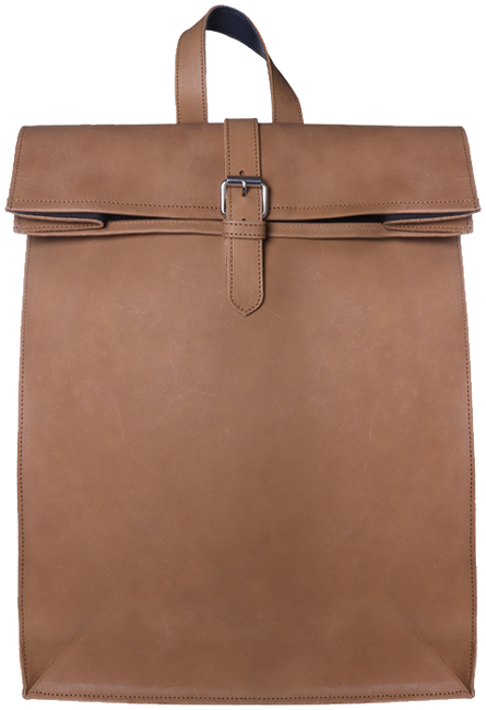 Cognac LAAUW Rugtas BACKPACK NINE STREETS  - large