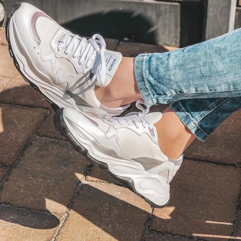 Witte WOMSH Lage sneakers VEGAN FUTURA | Omoda