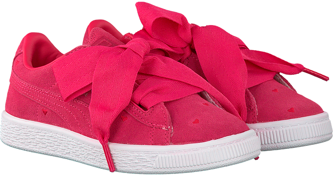 Roze PUMA Sneakers SUEDE HEART VALENTINE IN  - large