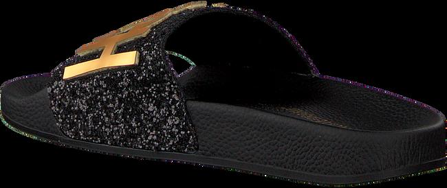 Zwarte THE WHITE BRAND Slippers GLITTER PATCH WOMEN - large