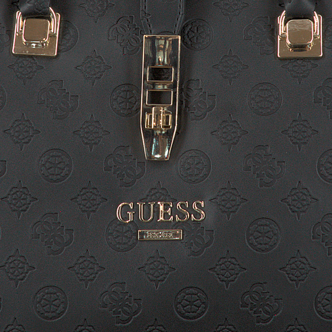 Zwarte GUESS Handtas PEONY CLASSIC GIRLFRIEND CARRY  - large