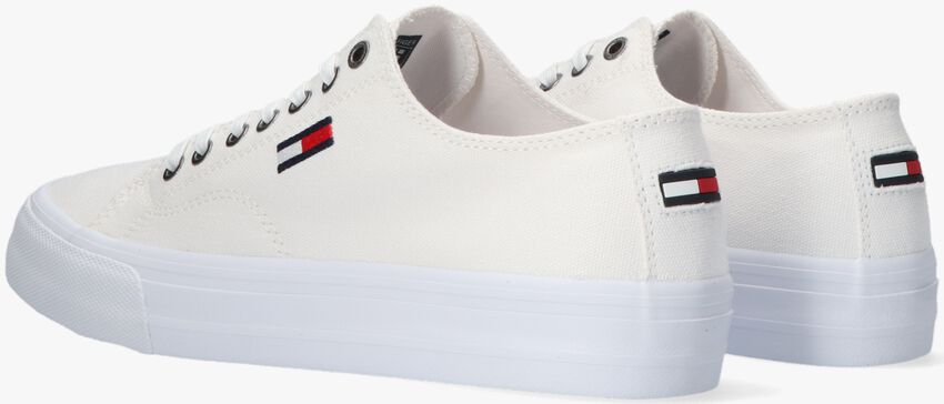 Witte TOMMY HILFIGER Lage sneakers LONG LACE UP VULC  - larger