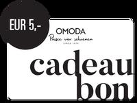 OMODA CADEAUBON EUR 5,- - medium