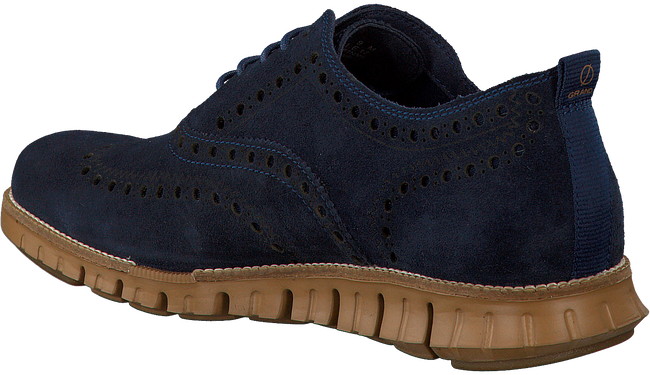 Blauwe COLE HAAN Veterschoenen ZEROGRAND WING OX  - large