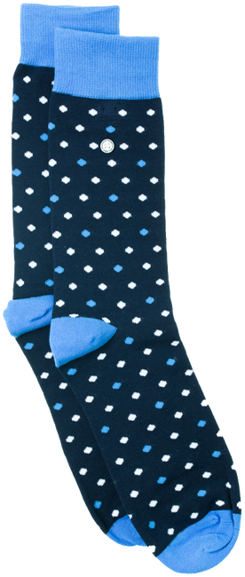 Blauwe ALFREDO GONZALES Sokken POLKA DOTS - large