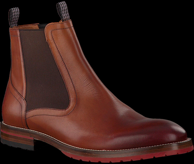 Cognac FLORIS VAN BOMMEL Chelsea boots 10976   Omoda