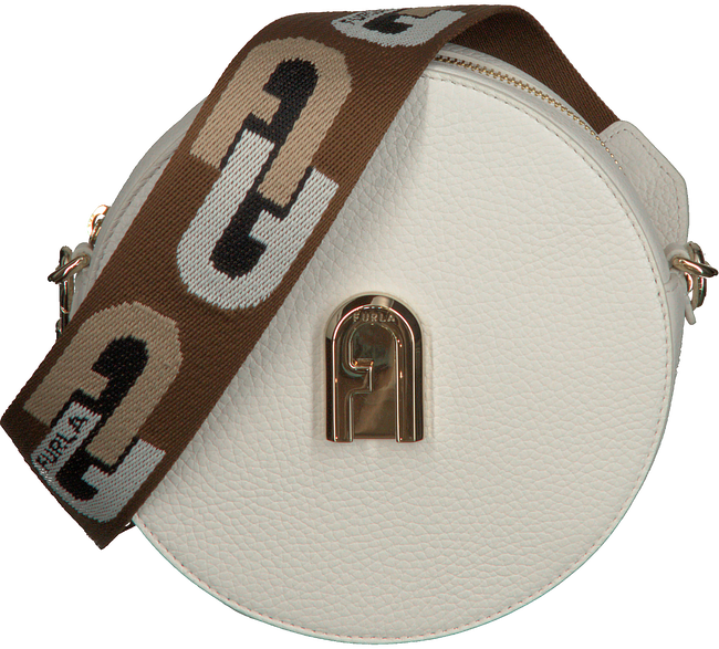 Witte FURLA Schoudertas SLEEK MINI CROSSBODY ROUND - large