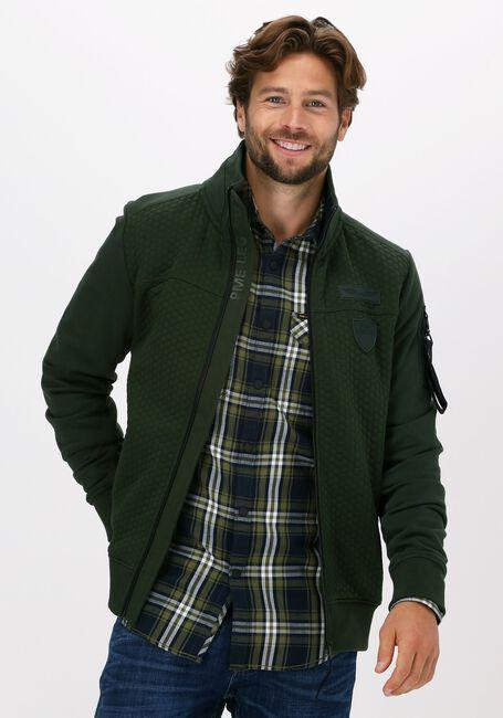 Groene PME LEGEND Vest ZIP JACKET STRUCTURE SWEAT - large