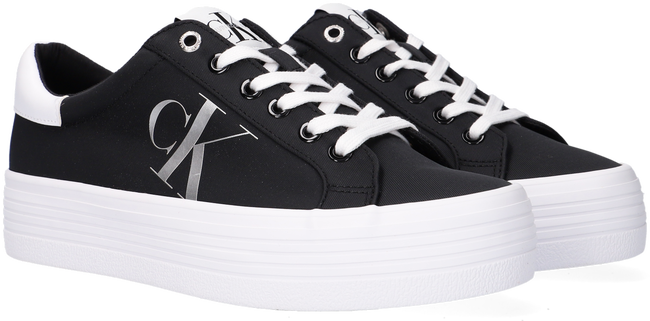 Zwarte CALVIN KLEIN Lage sneakers VULCANIZED FLATFORM LACEUP  - large