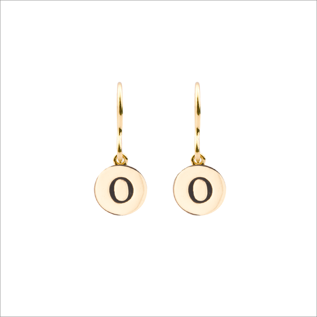 Gouden ATLITW STUDIO Oorbellen CHARACTER EARRINGS LETTER GOLD - large