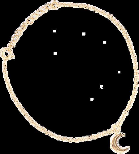 Gouden ALLTHELUCKINTHEWORLD Armband FORTUNE BRACELET MOON - large