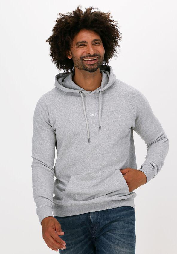 Lichtgrijze FORÉT Sweater BISON HOODIE - larger