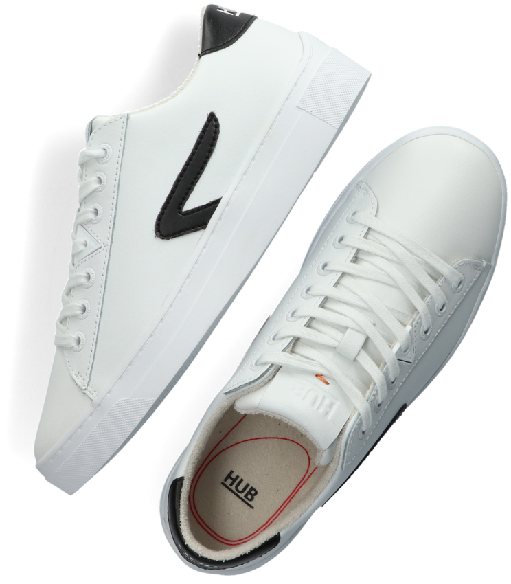 Witte HUB Lage sneakers HOOK LW Z-STITCH  - larger