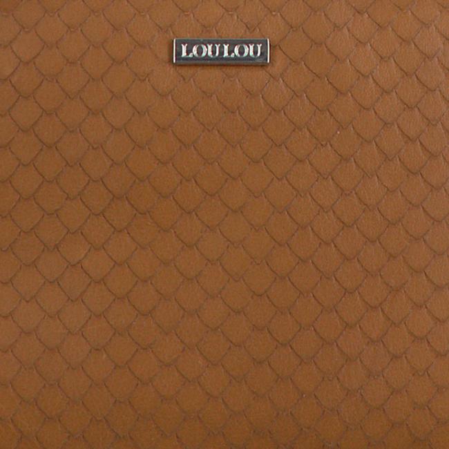 Cognac LOULOU ESSENTIELS Schoudertas 21POUCH SCALES  - large