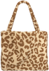 Beige STUDIO NOOS Shopper TEDDY LEOPARD MOM-BAG  - small