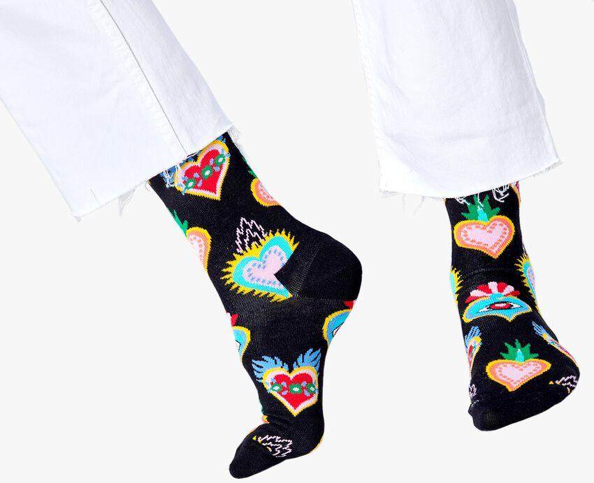 Zwarte HAPPY SOCKS Sokken SACRED HEART  - larger
