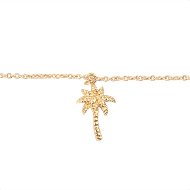 Gouden ATLITW STUDIO Armband SOUVENIR BRACELET PALM TREE - large