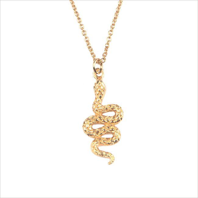 Gouden ALLTHELUCKINTHEWORLD Armband SOUVENIR NECKLACE SNAKE - large