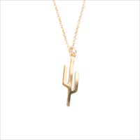 Gouden ATLITW STUDIO Ketting SOUVENIR NECKLACE CACTUS - medium
