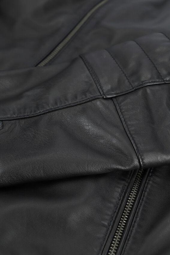 Zwarte GOOSECRAFT Leren jas JACKET965  - larger