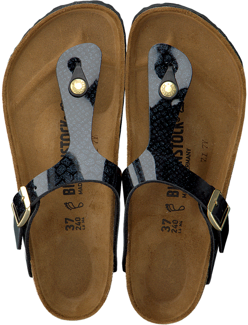 Zwarte BIRKENSTOCK Slippers GIZEH MAGIC SNAKE - large