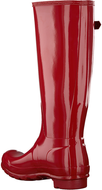 Rode HUNTER Regenlaarzen ORIGINAL TALL GLOSS - large