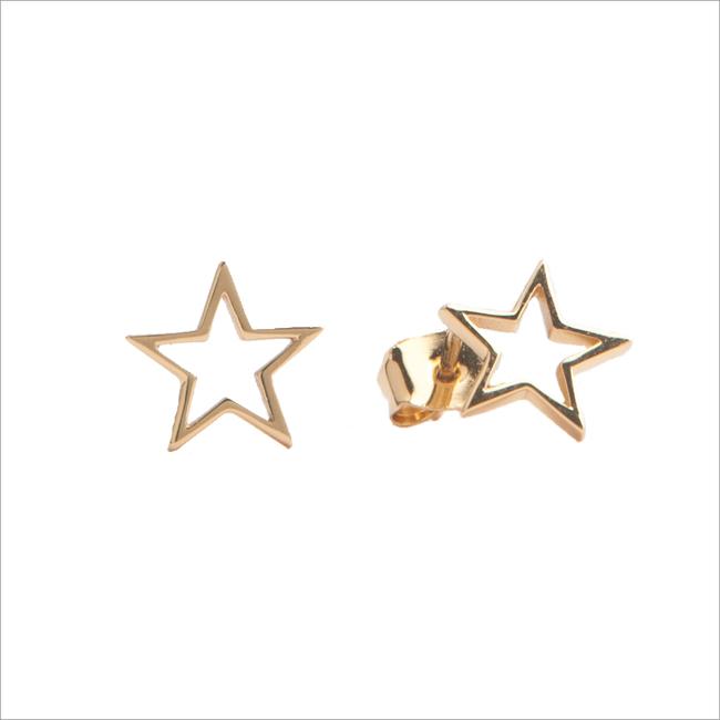 Gouden ATLITW STUDIO Oorbellen PARADE EARRINGS OPEN STAR - large